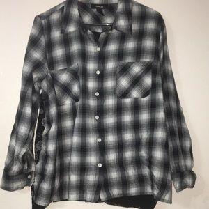 Style & Co Petite plaid long sleeve shirt PXL